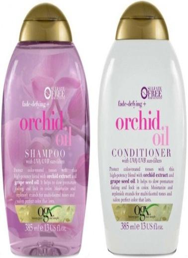 Organix Ogx Renk Koruyucu Orchid Oil Şampuan 385 ml + Saç Kremi 385 ml Renksiz